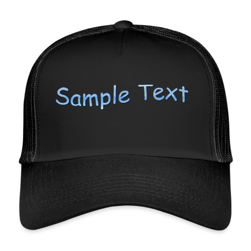 SAMPLE TEXT CAP - Trucker Cap