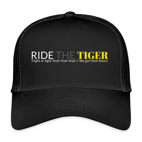 Logo Ride the tiger white-grey-yellow - Trucker Cap
