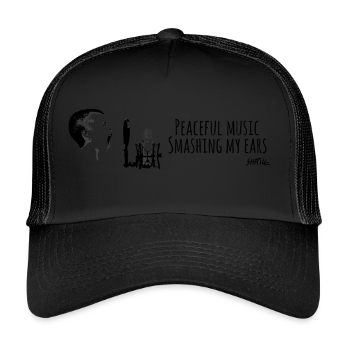 Peace ful Music horizontal - Trucker Cap
