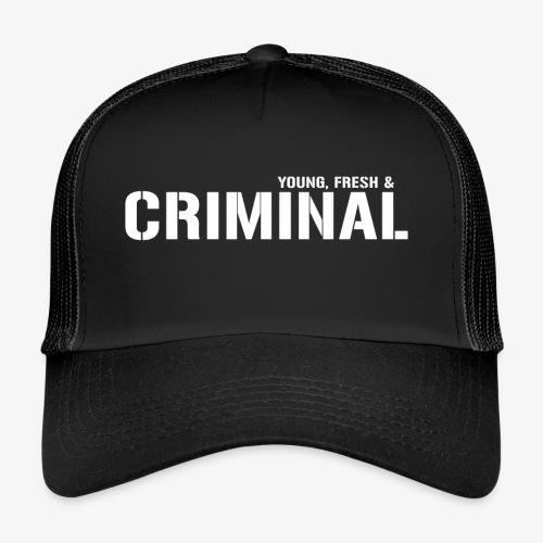 Y F CRIMINAL Logo White - Trucker Cap