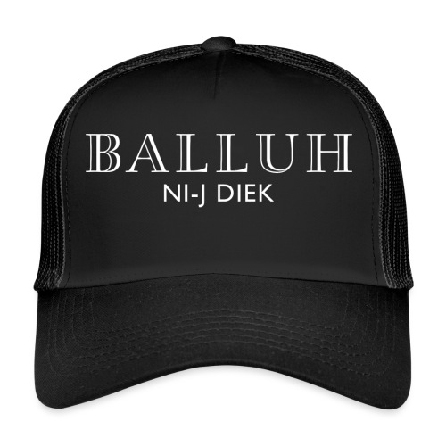 BALLUH NI-J DIEK Cap zwart - Trucker Cap