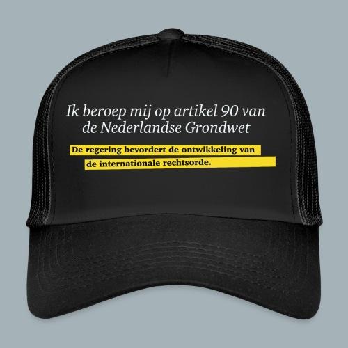 Nederlandse Grondwet T-Shirt - Artikel 90 - Trucker Cap