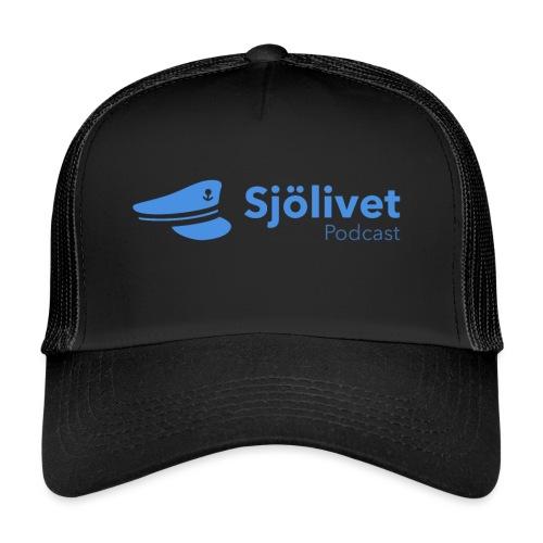 Sjölivet podcast - Svart logotyp - Trucker Cap