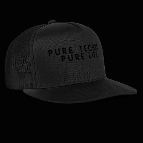 Pure Techno Pure Life Black - Trucker Cap