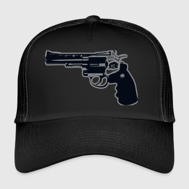 revólver del arma - Gorra de camionero
