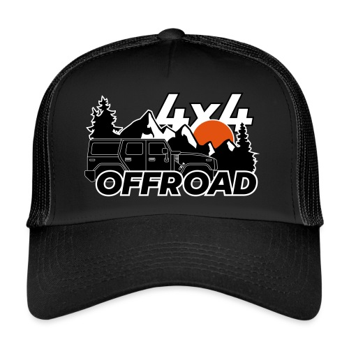 Offroad 4x4 Jeep Logo - Trucker Cap