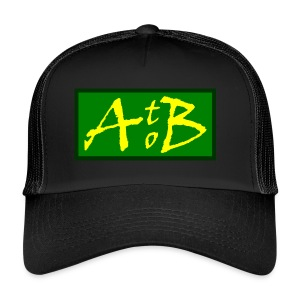 AtoB Logo green / yellow - Trucker Cap