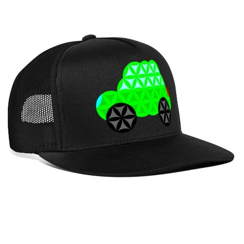 The Car Of Life - M01, Sacred Shapes, Green/R01. - Trucker Cap