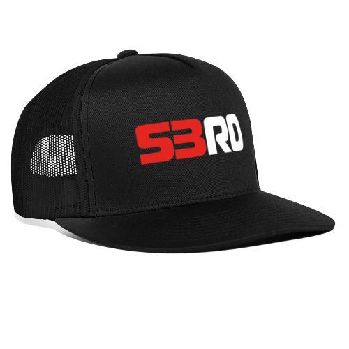 53RD Logo lang (weiss-rot) - Trucker Cap