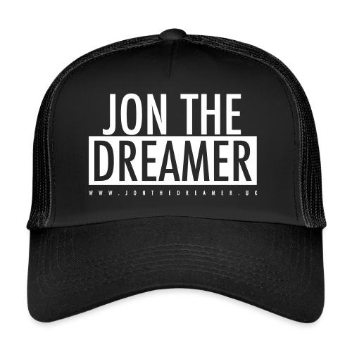 JON THE DREAMER LOGO - BLACK - Trucker Cap