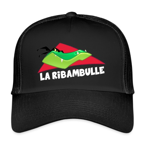 laRibambulle logoHD blanc png - Trucker Cap
