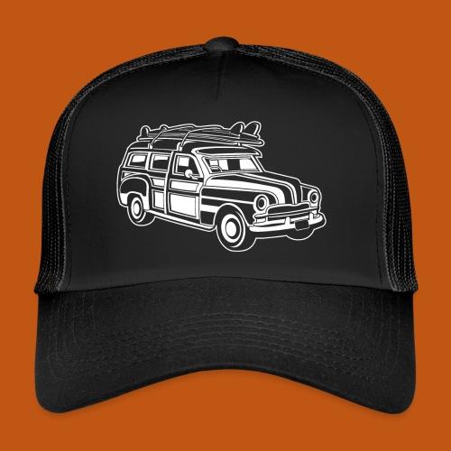 Chevy Cadilac Woodie / Oldtimer Kombi 01_weiß - Trucker Cap