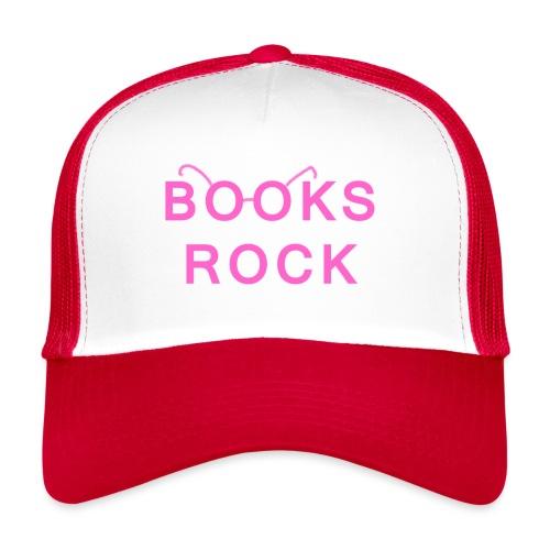 Books Rock Pink - Trucker Cap