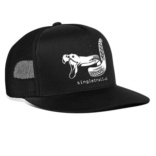 Single Trail Snake in Weiss - Trucker Cap