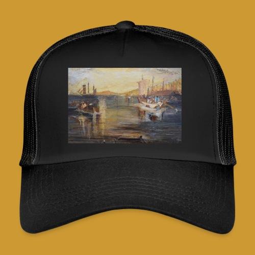 White Fishing - Mark Noble Art - Trucker Cap