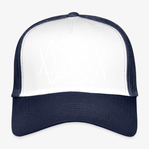Quermast V2 Weiß - Trucker Cap
