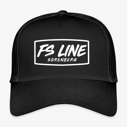 LINE BADGE weiss - Trucker Cap