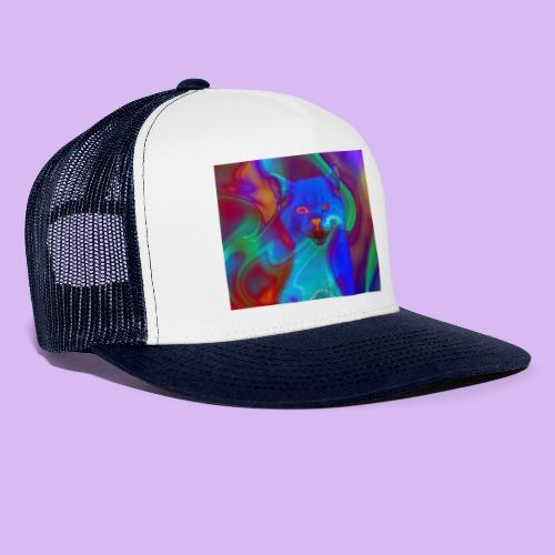 Gattino con effetti neon surreali - Trucker Cap