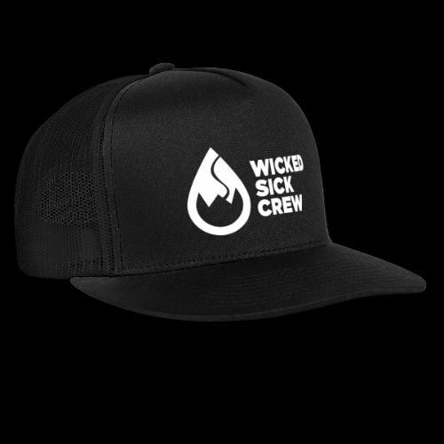 Wicked Sick Crew Logo weiß - Trucker Cap