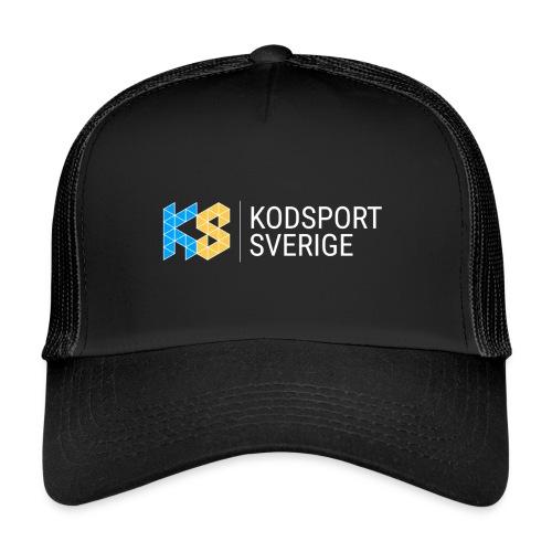 Kodsport logotyp - vit text - Trucker Cap