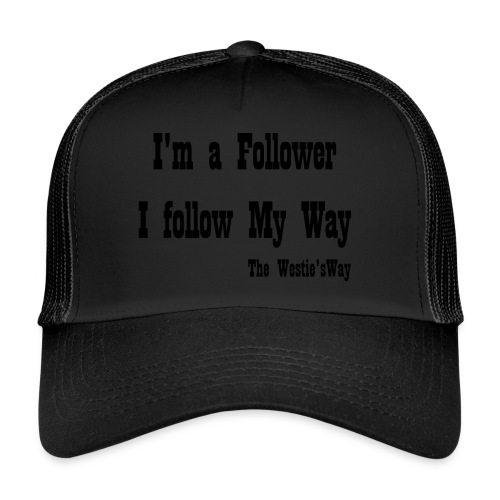 I follow My Way Black - Trucker Cap