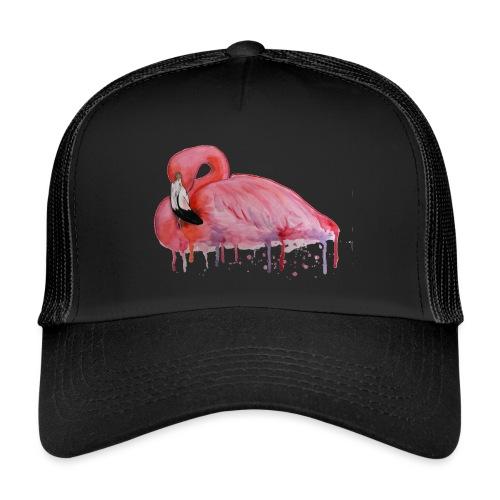Pink Flamingo Watercolors Nadia Luongo - Trucker Cap