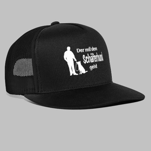 Der mit dem Schäferhund geht - White Edition - Trucker Cap