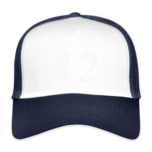 The Answer is 42 White - Trucker Cap