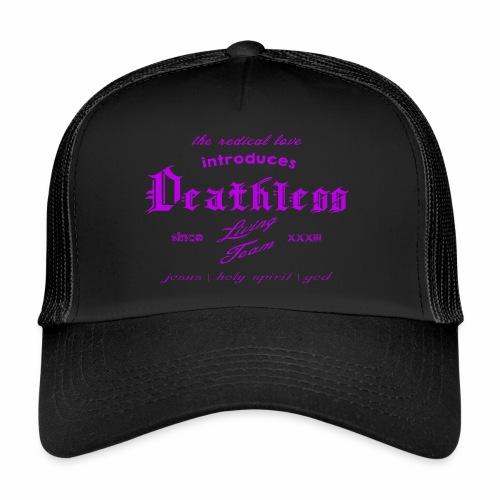 deathless living team violet - Trucker Cap