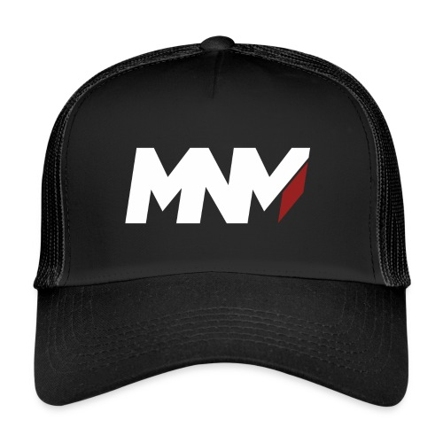 MNM With RED WHITE Corner - Trucker Cap