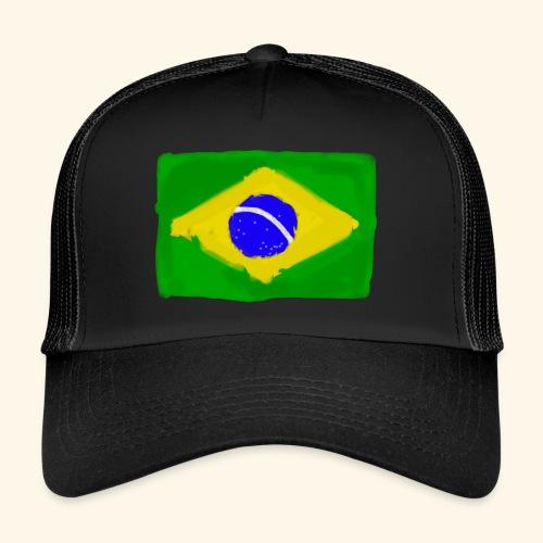 Brazilian flag InWatercolours - Trucker Cap