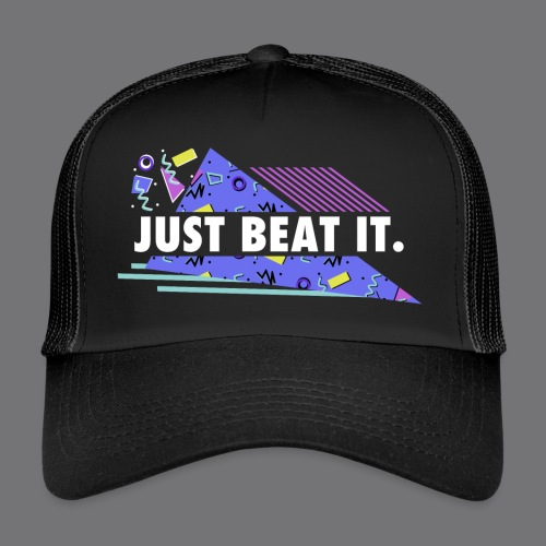 JUST BEAT IT black tee shirt - Trucker Cap
