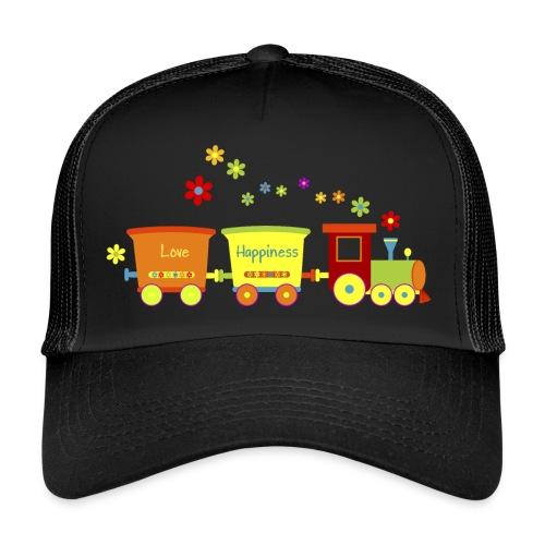 Eisenbahn Kinderspielzeug Zug Frühlingsblumen bunt - Trucker Cap