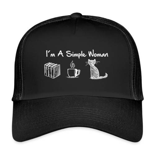 Vorschau: simple woman cat books - Trucker Cap