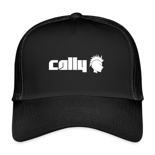 Cally White Logo - Trucker Cap