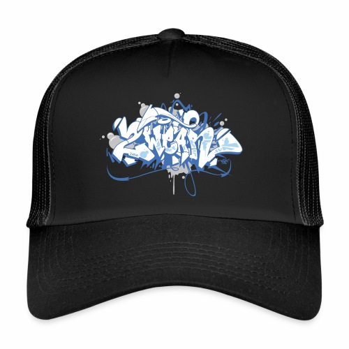 Dae 2Wear graffiti style ver01 blue edt. - Trucker Cap