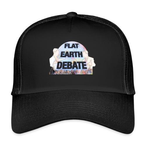 Flat Earth Debate Cartoon - Trucker Cap