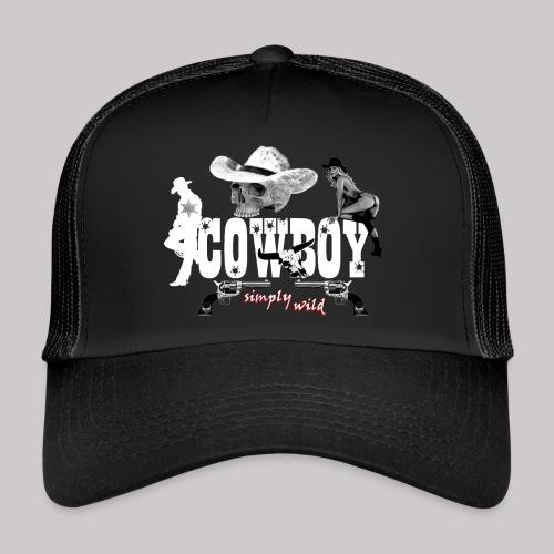 simplywild Cowboy on black - Trucker Cap