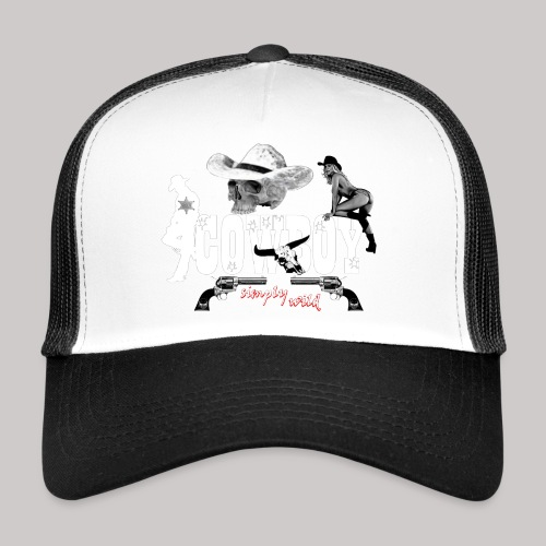 simplywild Cowboy on black - Trucker Cap