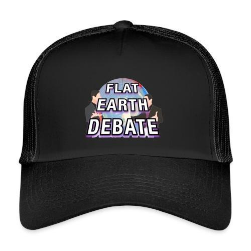 Flat Earth Debate Solid - Trucker Cap