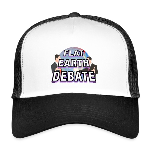 Flat Earth Debate Solid - Trucker Cap