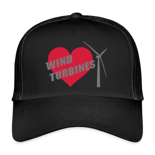 wind turbine grey - Trucker Cap