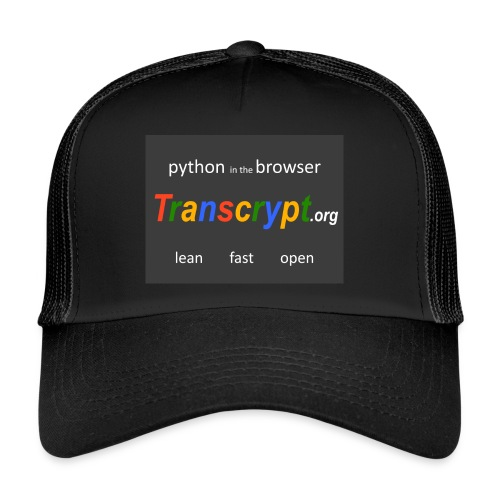 Transcrypt Logo - Trucker Cap