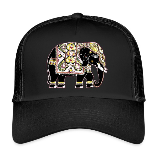 Indian elephant for luck - Trucker Cap