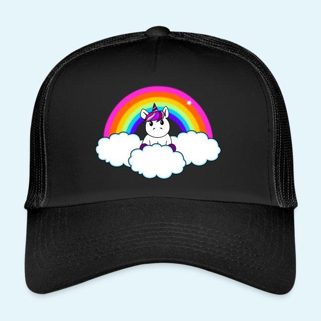 f224daa7 Sweet and Magic | Rainbow Unicorn - Trucker Cap
