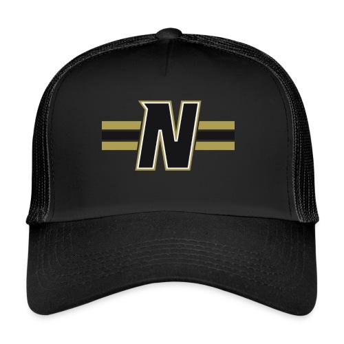 Nordic Steel Black N with stripes - Trucker Cap