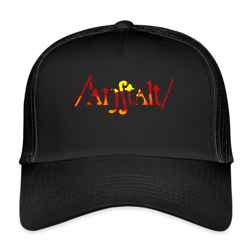 /'angstalt/ logo gerastert (flamme) - Trucker Cap