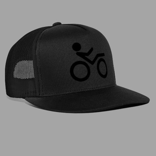 Recumbent bike black 2 - Trucker Cap