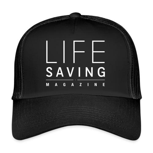 Casquette Logo Blanc Lifesaving Magazine - Trucker Cap