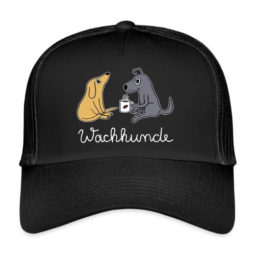 Wachhund trinkt Kaffee Koffein weckt müde Hunde - Trucker Cap